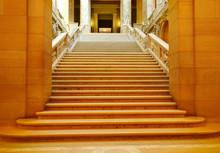 Shadowed Marble Stairway