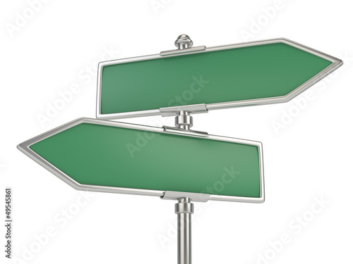 blank signs isolated on white