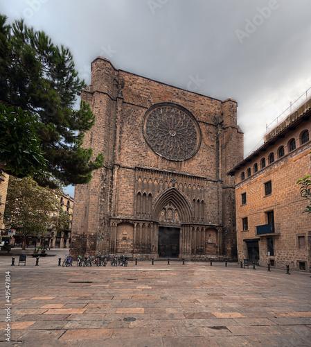 Santa Maria del Pi (St.Mary of the Pine Tree), Barcelona Canvas Print