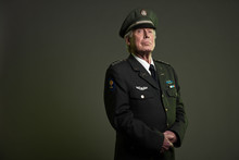 US Military General In Uniform...