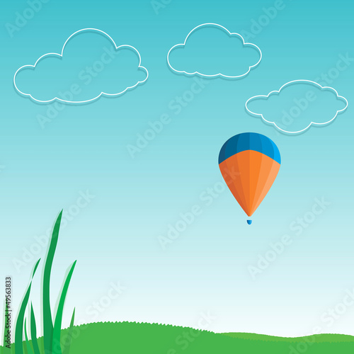 Spoed Foto op Canvas Turkoois sky clouds nature