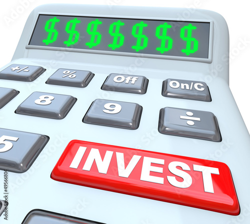 Dollar Signs And Invest Word On Calculator Buy This Stock