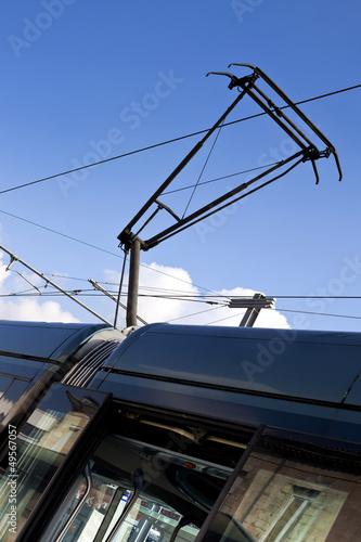 Tram, tramway, transport, urbain, rame, pantographe Tapéta, Fotótapéta