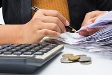Accountant Check Receipts