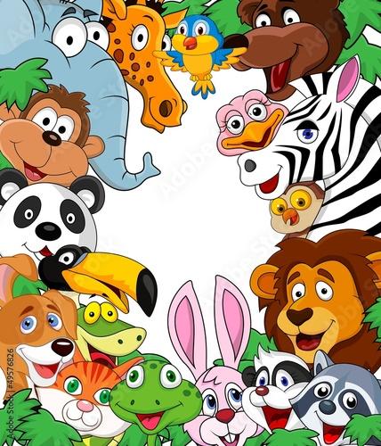 Foto op Aluminium Zoo Animal cartoon background