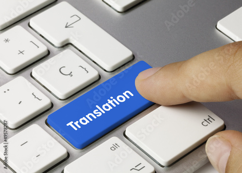 Fotografía  Translation keyboard key Finger