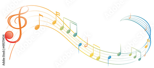 Stampa su Tela A music note