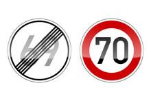Verkehrszeichen V2 Geburtstag 69 70 I