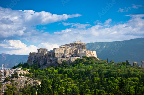 Photo Beautiful view of ancient Acropolis, Athens, Greece