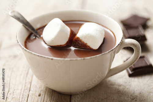 Printed kitchen splashbacks Chocolate hot chocolate