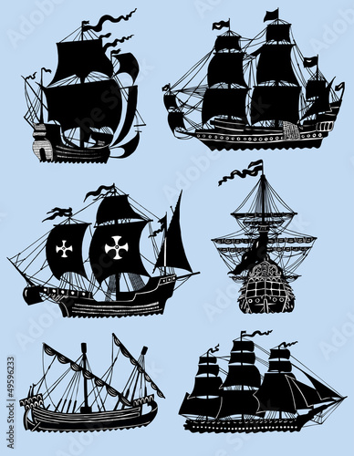 Windships isolated Canvas Print