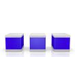3 Würfel in blau - 3D