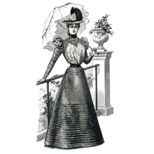 Elegant Woman With A Parasol