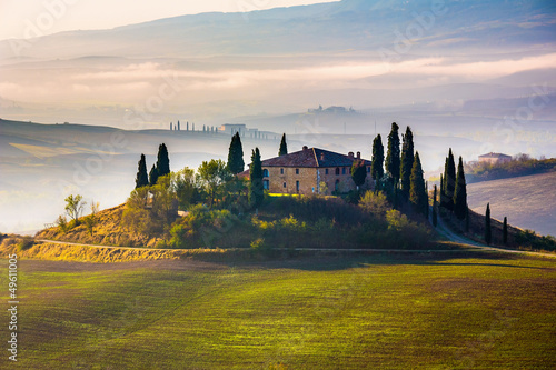 In de dag Toscane Tuscany at early morning