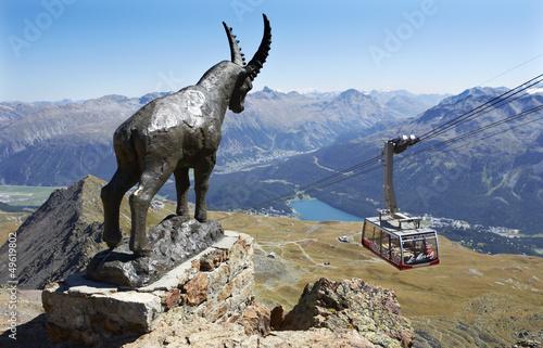 Fotografie, Obraz  Piz Nair St.Moritz