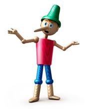 Pinocchio Vor Weiss