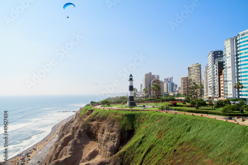 Miraflores Town landscapes in Lima peru Wallpaper Mural
