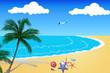Beach and star fish