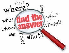 Find The Answer - Magnifying Glass