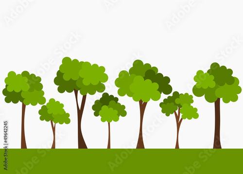 Fotografie, Obraz  Trees