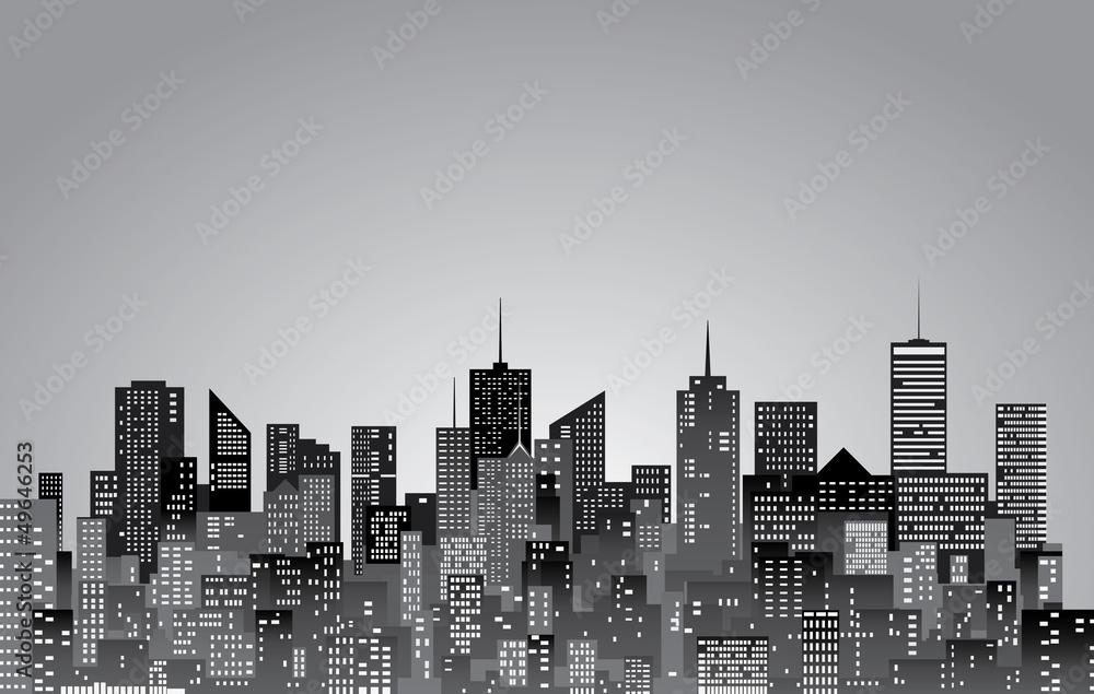 Fototapeta gray city