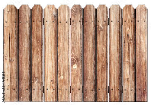 Láminas  old wooden fence isolated on white