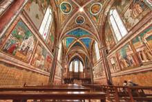Assisi Dome Saint Francis Church Interior View