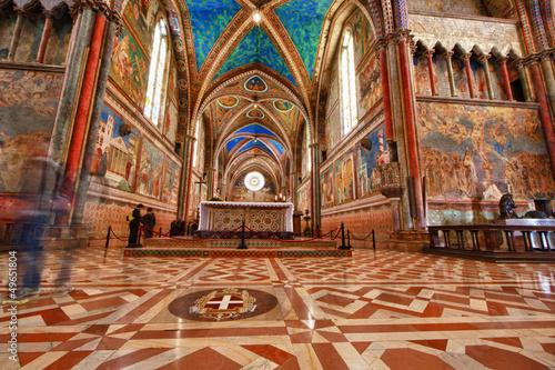 Canvas Print Assisi Dome Saint Francis Church interior view