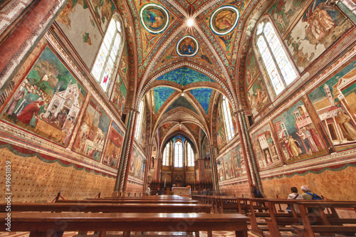 Assisi Dome Saint Francis Church interior view Wallpaper Mural