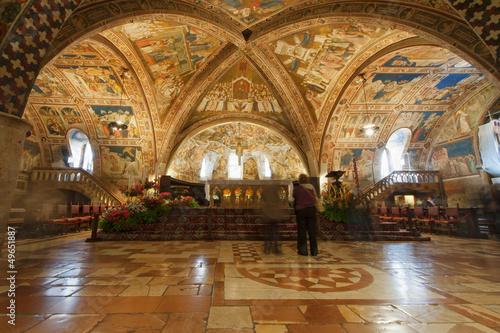 Assisi Dome Saint Francis Church interior view Canvas Print