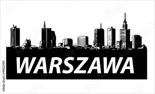 Fototapeta premium Warszawa City