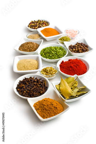 Foto op Plexiglas Kruiden Various spices and herbs.