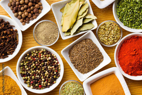 Fototapety, obrazy: Various spices and herbs.