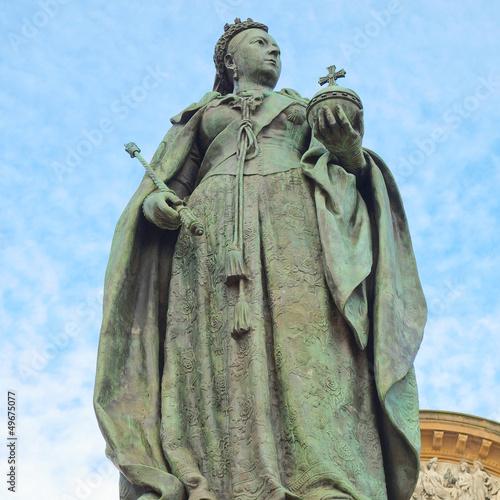 Stampa su Tela Queen Victoria statue