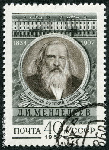 Photo  USSR - 1957: shows Dmitri I. Mendeleev (1834-1907), chemist