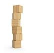 canvas print picture - Turm aus Holzklötzen isoliert
