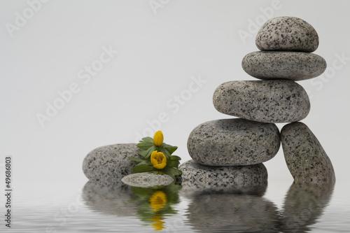 Plissee mit Motiv - Pyramid of stones
