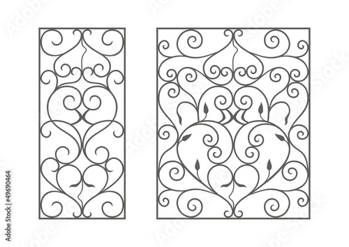 Photo Wrought iron modules, usable as fences, railings, window grilles