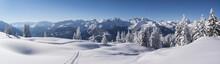 Winterpanorama In Den Tief Ver...