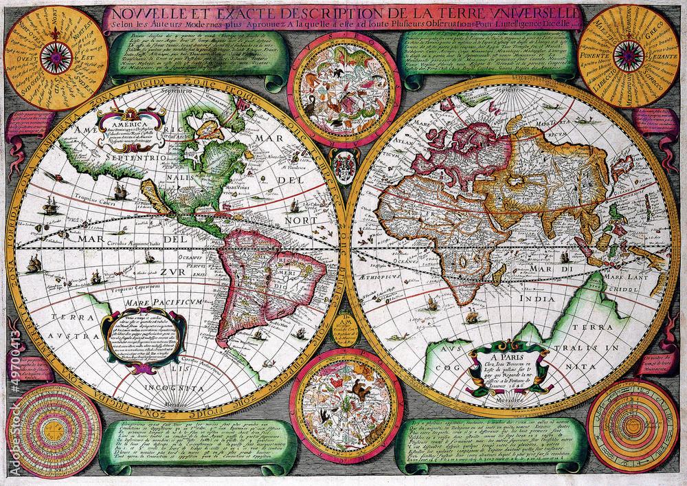 Fototapety, obrazy: old map