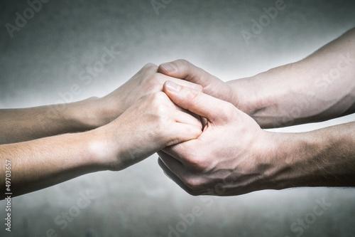 Slika na platnu Ich halte deine Händchen