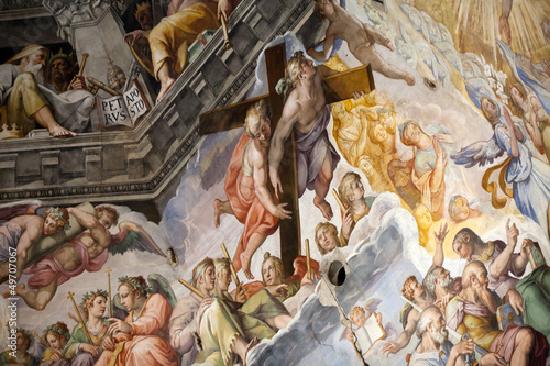 Photo Florence - Duomo .The Last Judgement. Inside the cupola