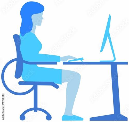 Valokuva  Sitzposition am Arbeitsplatz