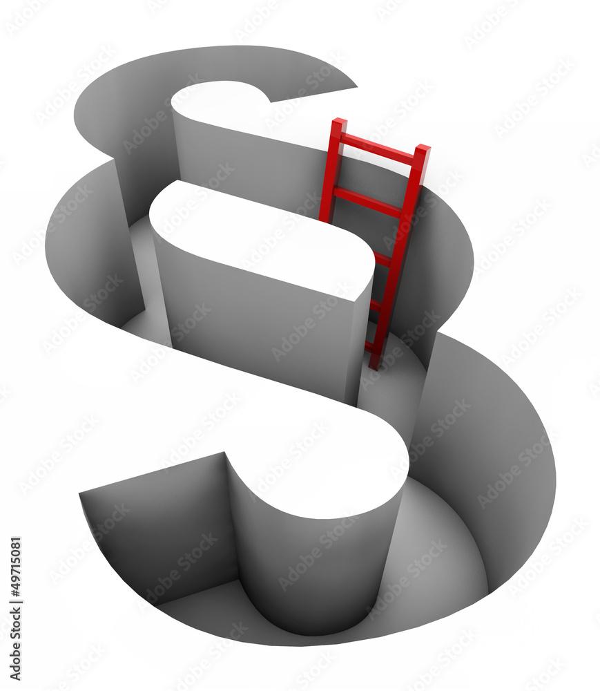 Fototapeta Paragraph - Red ladder