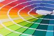 canvas print picture - farbkarte, farbpalette