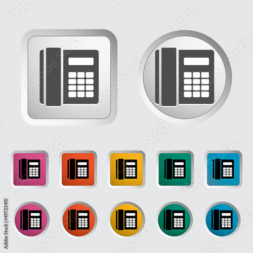 Office phone icon  - Buy this stock vector and explore
