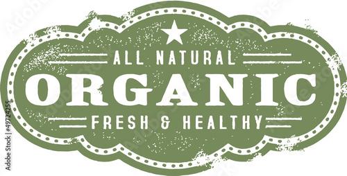 Fotografie, Obraz  Organic Food Stamp