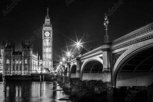 Plakat Big Ben Clock Tower i Parlament House
