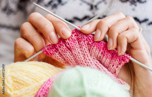 Fotografie, Obraz  Knitting