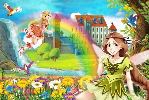 wrozka-piekna-dziewczyna-manga-ilustracja
